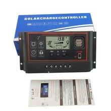 60A 50A 40A 30A 20A 10A ШИМ Солнечный Контроллер заряда 12 в 24 В Авто панели солнечных батарей регуляторы зарядного устройства для солнечной системы питания