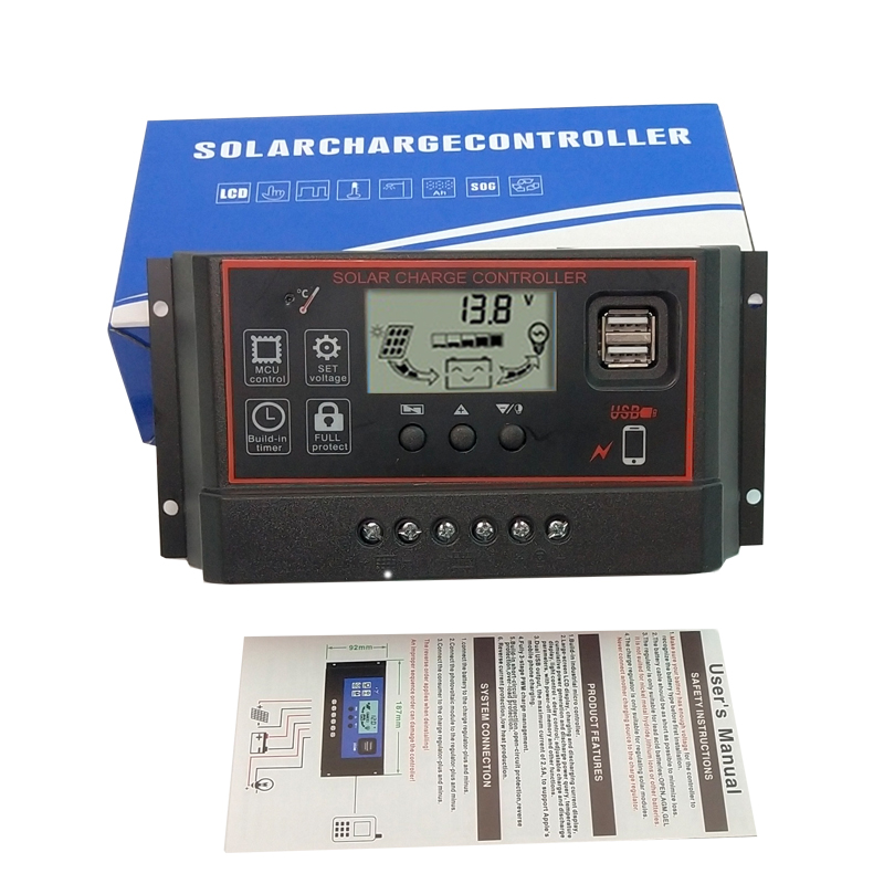 PWM Solar Charge Controller 30A//20A//10A Battery Panel Regulator 12V//24V From USA