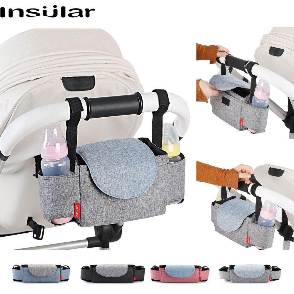 Insular Baby Stroller Bag Mummy Nappy Bag Multifunction Diaper Bags Accessories Organizer Pushchair Bottle Storage For Travel