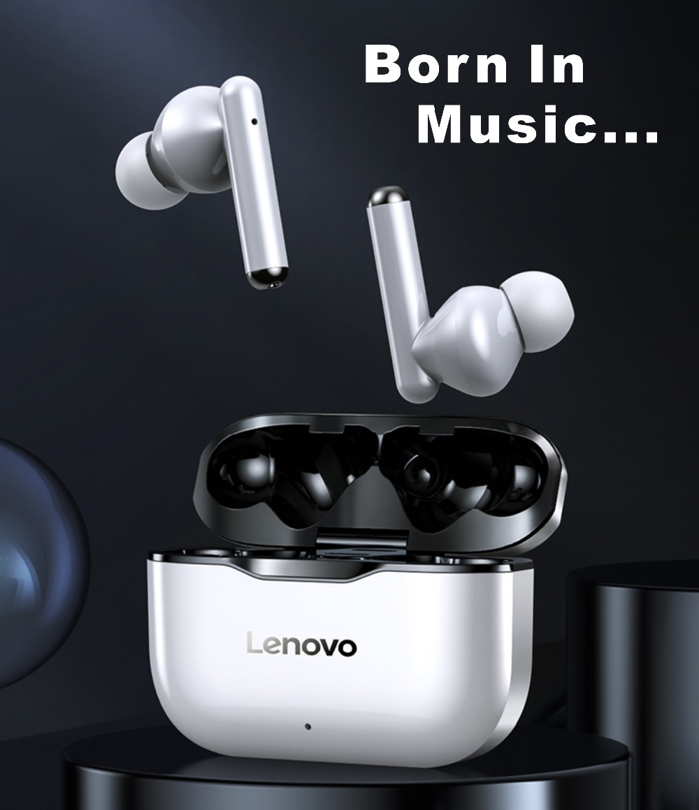 NEW Original Lenovo LP1 TWS Wireless Earphone Bluetooth 5.0 Dual Stereo Noise Reduction Bass Touch Control Long Standby300mA i9s