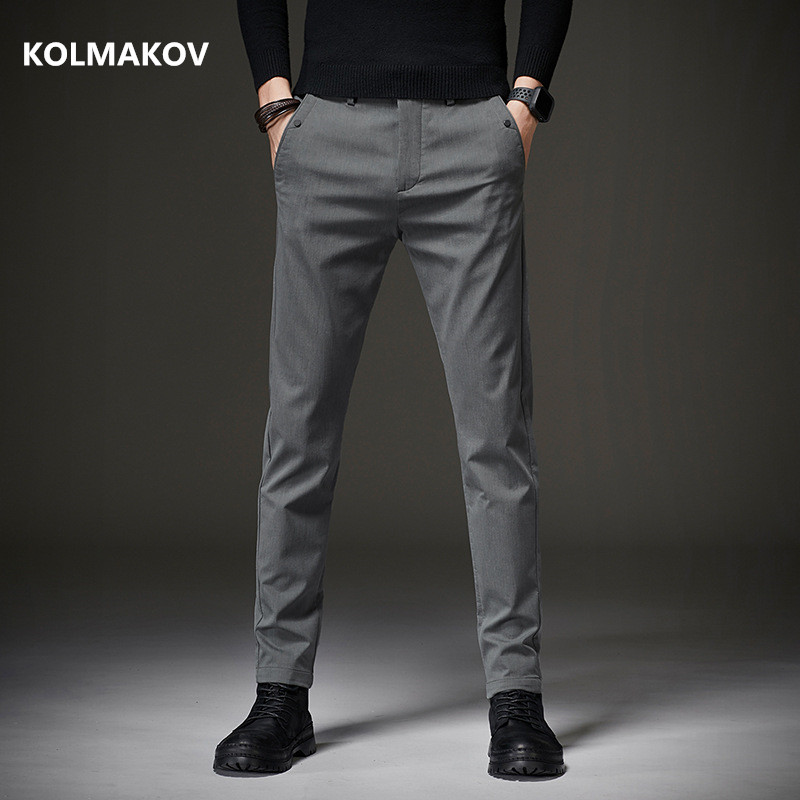 2020 Spring Autumn Men's Pants Business Straight Long Trouser Men High Quality Classic Casual Trousers Pant Male