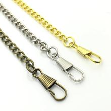Новое поступление унисекс Ретро подарок в античном стиле карманные, на цепочке держатель для часов ожерелье джинсовая декоративная лента карманные часы цепочка ожерелье женский подарок