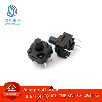8 * 8 * 7.5h waterproof button touch switch waterproof button image