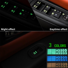 1Pcs For Nissan Tiida Livida X-Trail T31 T32 Qashqai J11 Jetta Car Door Window Lift Window Button Sticker Car Sticker Luminous