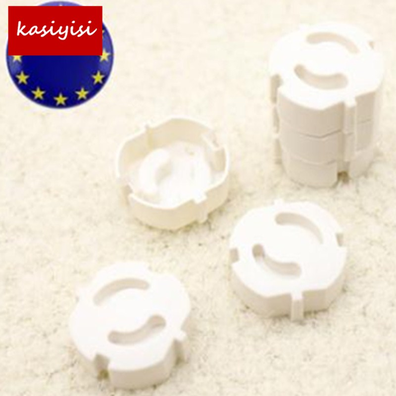 10pcs/lot New Pure White ABS Baby Safety Plug Socket European Standard Electric Protective Cover Protective Plug Cover