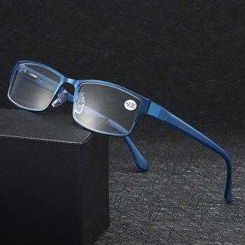 Okulary dla osób z krótkowzrocznością mężczyźni biznes okulary do czytania kobiety stop tytanu trawy męskie nadwzroczność prezbiopia okulary na receptę ramki tanie i dobre opinie higodoy Unisex WHITE Antyrefleksyjną 3 4cm Z tworzywa sztucznego 5 2cm