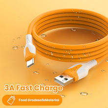 3A Liquid Silicone Cable Micro USB Type C Cable for Samsung Huawei Xiaomi One Plus Charging Wire Data  Super Fast Charge Cable