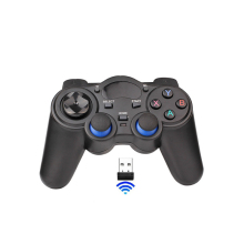 2PCS 2.4G Game Controller Wireless Gamepad Joystick For PS3 Android TV Box Analog Sticks With 2 OTG Adapter 2 USB Receiver d25 10pcs a lot black 2 4g wireless gamepad controller with receiver for ps2