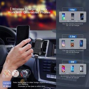 Image 4 - Baseus حامل هاتف السيارة آيفون سامسونج ذكي الأشعة تحت الحمراء تشى سيارة شاحن لاسلكي الهواء تنفيس جبل حامل هاتف المحمول حامل