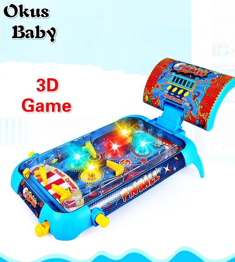 2019 Hot Selling Pinball Platform Interactive 3-D Pinball Ejection Children's Player 3-D Small Pinball