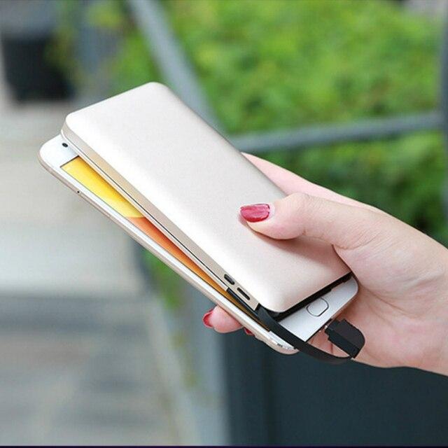 10000mah batterie externe batterie externe appauvrbank 2 USB Powerbank Portable chargeur de téléphone Portable pour