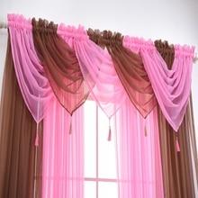 Home-Curtain Window-Gauze Romantic Living-Room for Bedroom-Decoration Translucidus Solid-Color