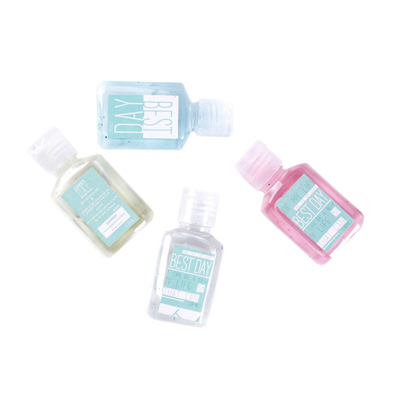 5*Mini Hand Sanitizer Anti-Bacteria Fruit-Scented Disposable No Clean Waterless Shampoo Cleansing Fluid Travel Portable