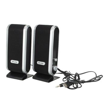 2 Pcs USB Power Computer Speakers Stereo 3.5mm with Ear Jack for Desktop PC Laptop 1