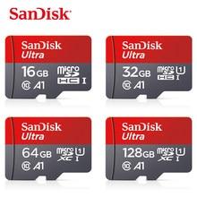 100% original sandisk classe 10 cartão sd microsd tf cartão 16 gb 32 gb 64 gb 128 gb micro cartão de memória sd