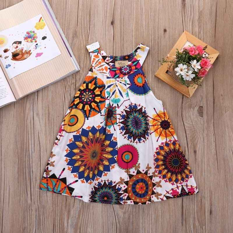 Dresses 2017 NEW Toddler Baby Flower Girls Princess Clothing Vintage Brief Cotton Sleeveless Wedding Party Kids Mini Girl Dress