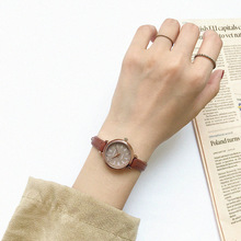 Relojes de mujer marrones Retro calidades relojes de pulsera de mujer pequeños reloj de pulsera de cuero Vintage 2019 reloj de mujer de marca de moda