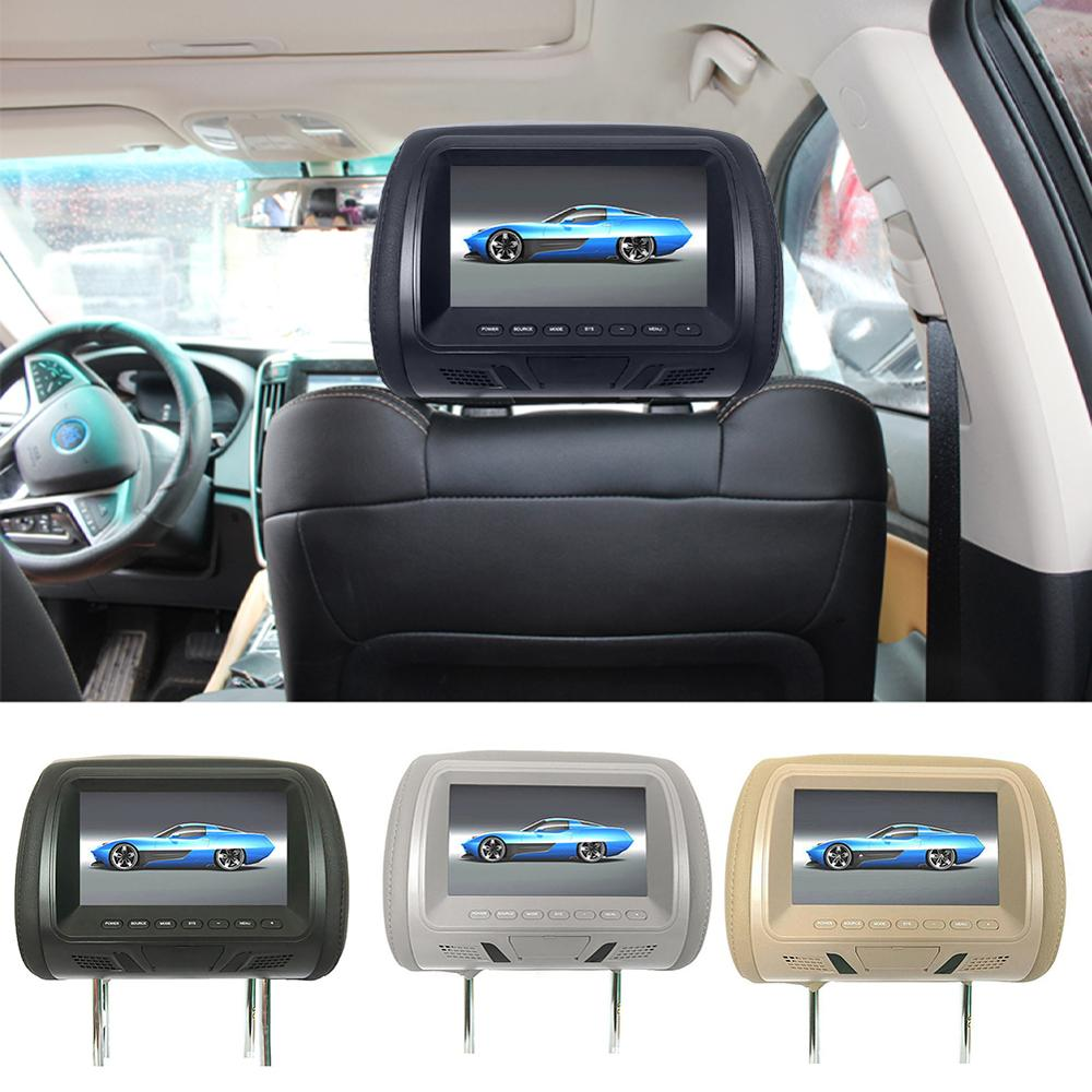 ยานยนต์ทั่วไป 7 นิ้วHeadrest HDหน้าจอดิจิตอลจอแสดงผลคริสตัลเหลวรถHeadrestเครื่องเล่นDVD