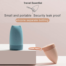 60ml Portable Travel Bottles Leak Proof Squeezable Silicone Toiletries Shampoo Cosmetic Lotion Cream Container Refillable Bottle