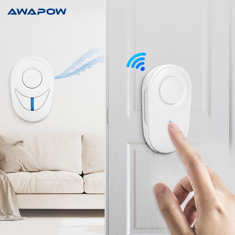 Wireless Doorbell Self-powered Waterproof Smart Doorbell Without Battery 150m Remote Control Smart Home Wireless Doorbell Set