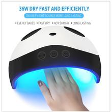 Cute Panda UV LED Nail Dryer Lamp 36W 60s/90s/120s Timing Manicure Polish Light Tools