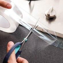 Водостойкая клейкая лента для кухонной раковины, крепкая самоклеящаяся лента для ванной, двери, окна, зазора, угловая 3 м прозрачная уплотнительная лента, нано-лента