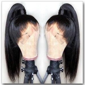 Image 3 - שקוף תחרה פאות תחרה מלאה שיער טבעי פאות מולבן קשרים מראש קטף 13x6 מזויף קרקפת בלתי נראה פאות עבור שחור נשים 130%
