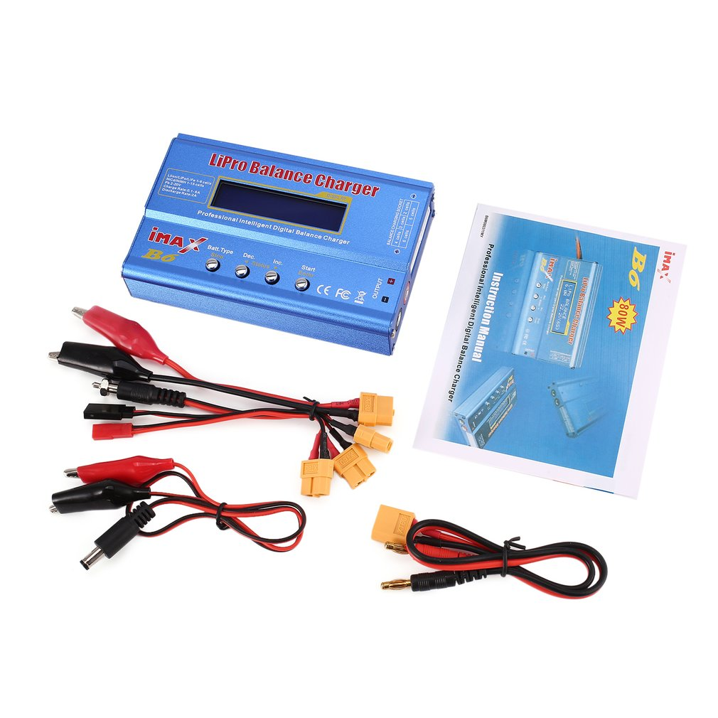B6AC 80W 6A Lipo NiMh Li ion Ni Cd AC/DC RC Balance Charger 10W Discharger for RC Car Helicopter Drone Airplane Battery Chargers     - title=