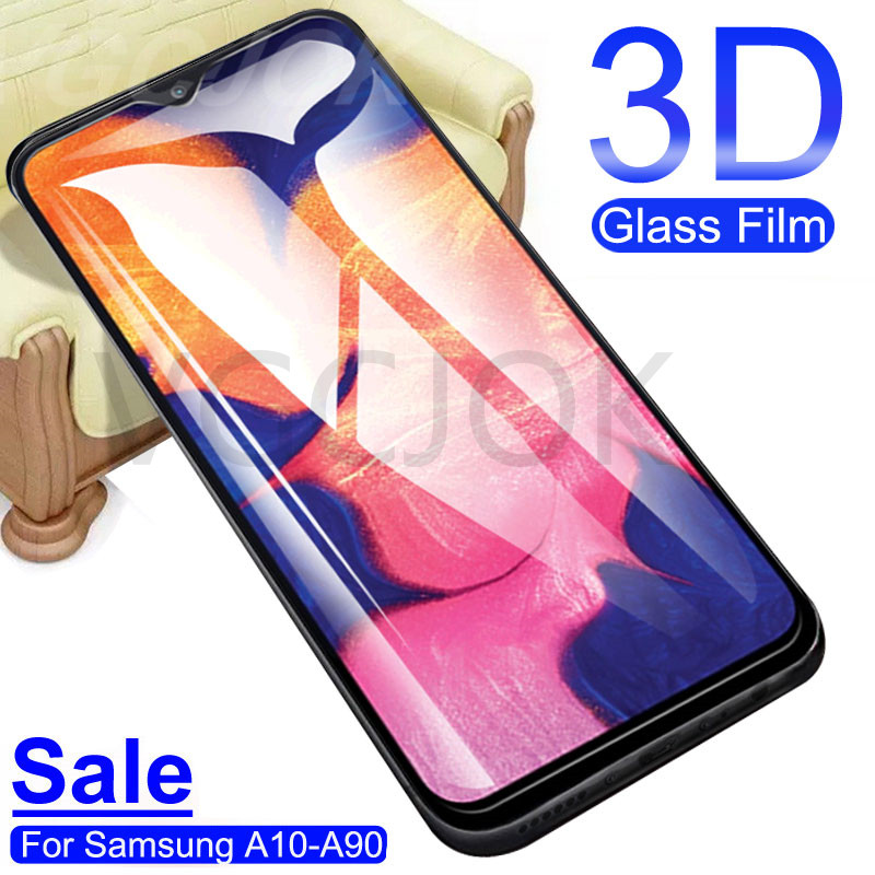 3D Tempered Glass On The For Samsung Galaxy A10 A20 A30 A40 A50 A10S Screen Protector A60 A70 A80 A90 Protective Glass Film Case