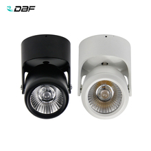 Surface Mounted COB LED Downlights 7W 10W 15W 20W Ceiling Lamps Spot Light adjustable Downlight + AC110/220V Driver
