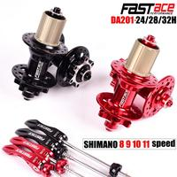 Bicycle Hub Fastace Hub DA201 High Quality Sealed Bearing Disc Brake 24 28 32 Holes MTB Mountain Bike Hubs 8 9 10 11 Speed