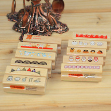 School Educational Supplies Wood Rubber 1Pcs Wooden Rubber Stamp Seal  DIY Vintage Retro Style Craft Ink Pad Stationary