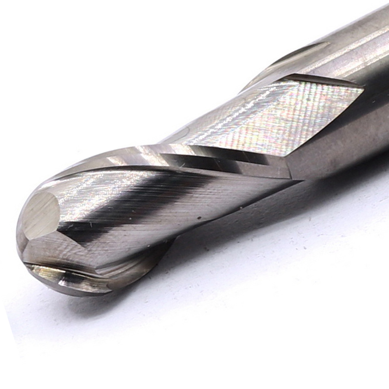 10pcs Fraise en bout 4mm Spirale Fraisage Rainure Carbure de tungstène