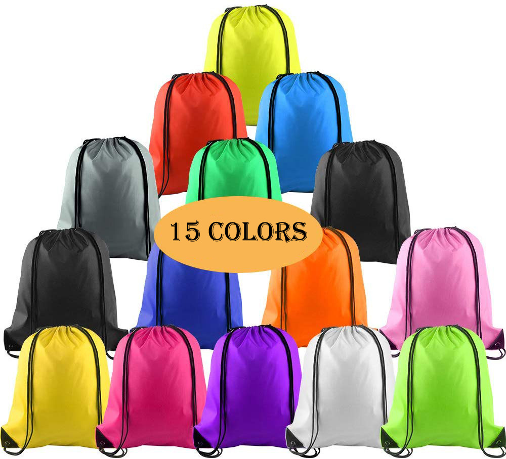 Multicolor Drawstring Backpack Bag String Storage Bags For School Gym Traveling Waterproof Polyester Drawstring Backpack Women