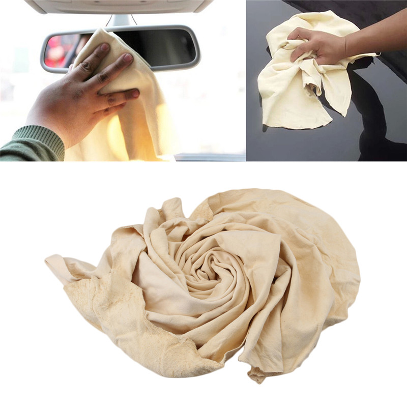 Natural Chamois Leather Car Cleaning Cloth Washing Suede Absorbent Towel Durable
