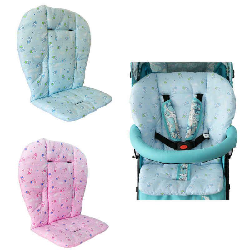 Poduszka do wózka dla dziecka wysokie krzesło fotel samochodowy Pad ciepły kreskówka wzór królika wózek materac mata wykładzinowa koszyk akcesoria ochronne
