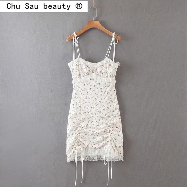 Summer mini Dress string strap and adjustable bottom 1