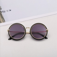 2020 High Quality Brand Designer Retro Kids Sunglasses Round Goggle Acrylic Mate