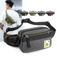 2020 New Men Nylon Waist Bags High Quality Oxford Chest Pack Male Causal Travel Waist Packs Phone Pocket Handy Belt Fanny Packs(China)