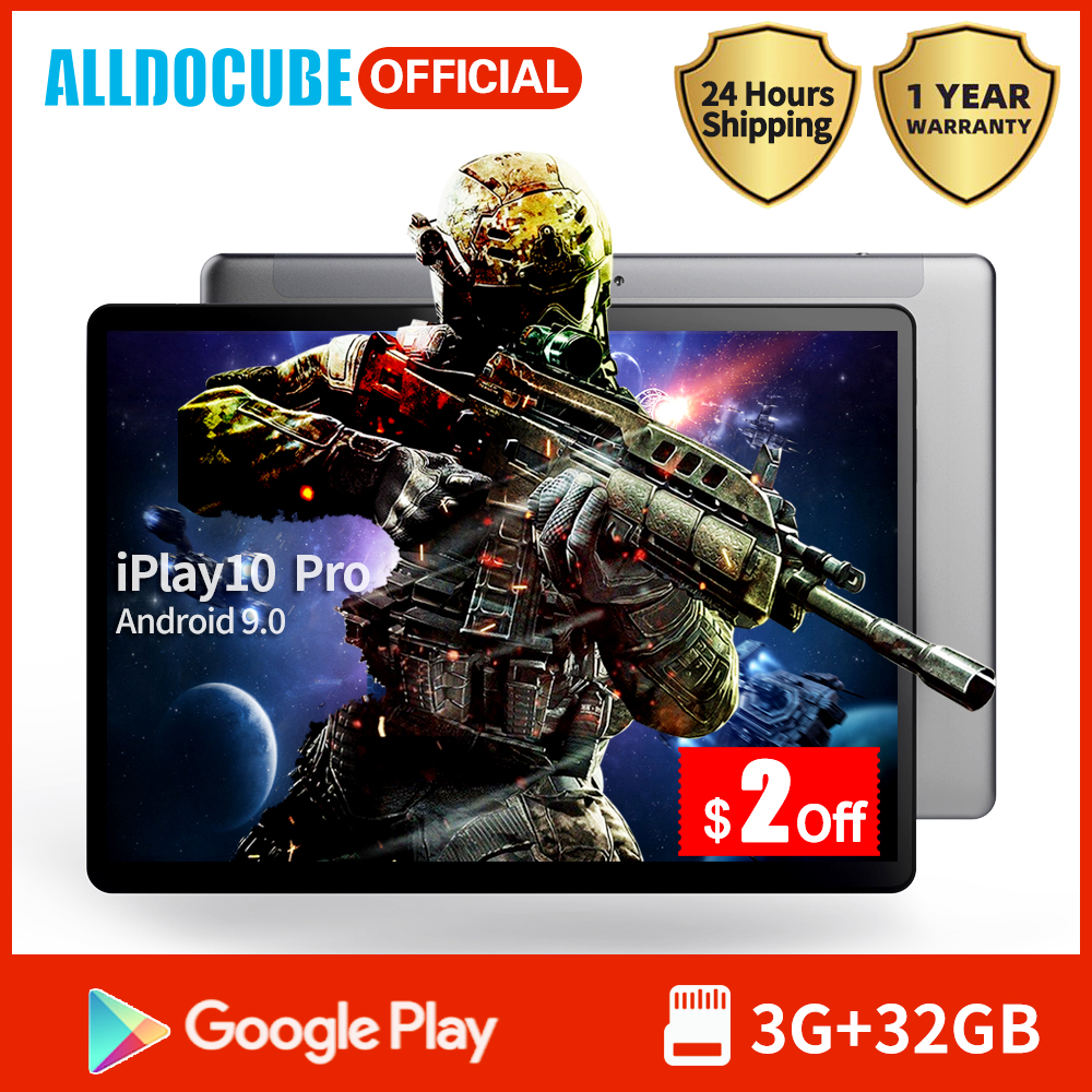 Alldocube IPlay10 Pro Game Tablet 10.1 Inch IPS Screen MT8163 Quad Core 3GB RAM 32GB ROM Android 9.0 Wifi BT4.0