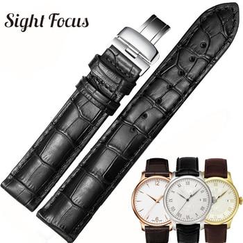 19mm 20mm 22mm Calfskin Watch Bands for Tissot Le Locle T41 T006 PRC200 Watch Strap Wrist Belt Watch Bracelet 1853 Watchband Men