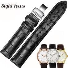 19mm 20mm 22mm opaski do zegarka ze skóry cielęcej dla Tissot Le Locle T41 T006 PRC200 pasek do zegarka pasek na nadgarstek bransoletka do zegarka 1853 Watchband mężczyźni