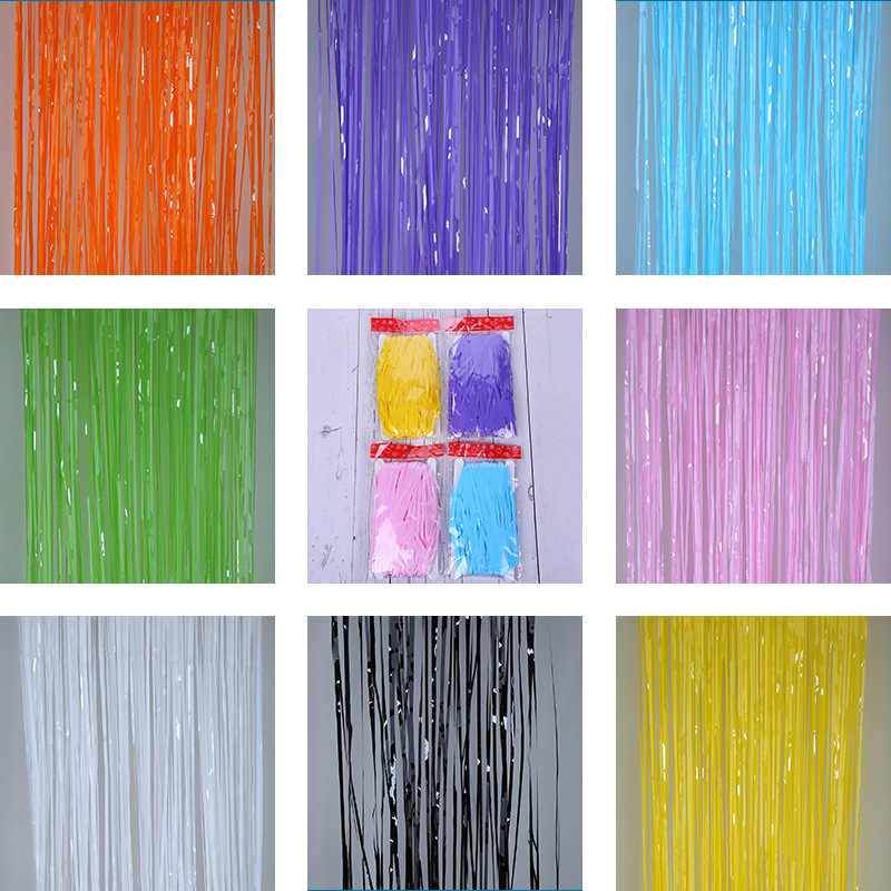 foil curtain 2m macaron tinsel fringe curtain birthday party decoration wedding photography backdrop curtain photo props