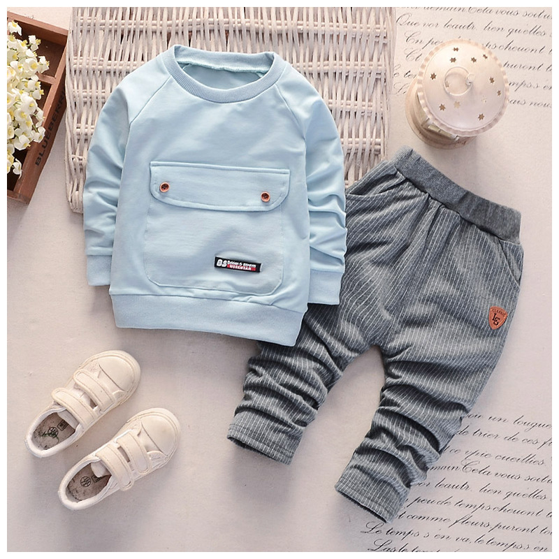 2pcs Infant Baby Girls Boys Korean Outfits Long Sleeve Shirt Tops Pants Clothes Mi Tiles Com