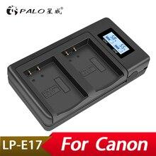 פאלו LP E17 LPE17 USB LCD כפולה מטען סוללה מטען עבור Canon EOS M3 750D 760D T6i T6s 8000D נשיקה X8i מצלמה
