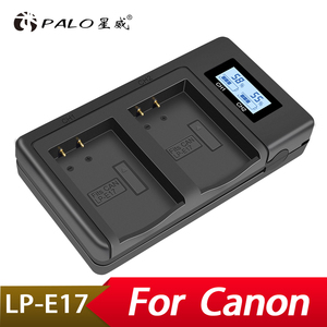 Image 1 - Palo LP E17 LPE17 Usb Lcd Dual Charger Batterij Lader Voor Canon Eos M3 750D 760D T6i T6s 8000D Kus X8i camera