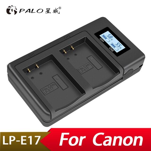 Palo LP E17 LPE17 Usb Lcd Dual Charger Batterij Lader Voor Canon Eos M3 750D 760D T6i T6s 8000D Kus X8i camera