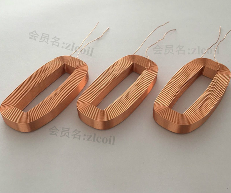 Electromagnetic Induction Coil Hollow Self-adhesive Coil Inductor Coil Flat Coil 28*60mm