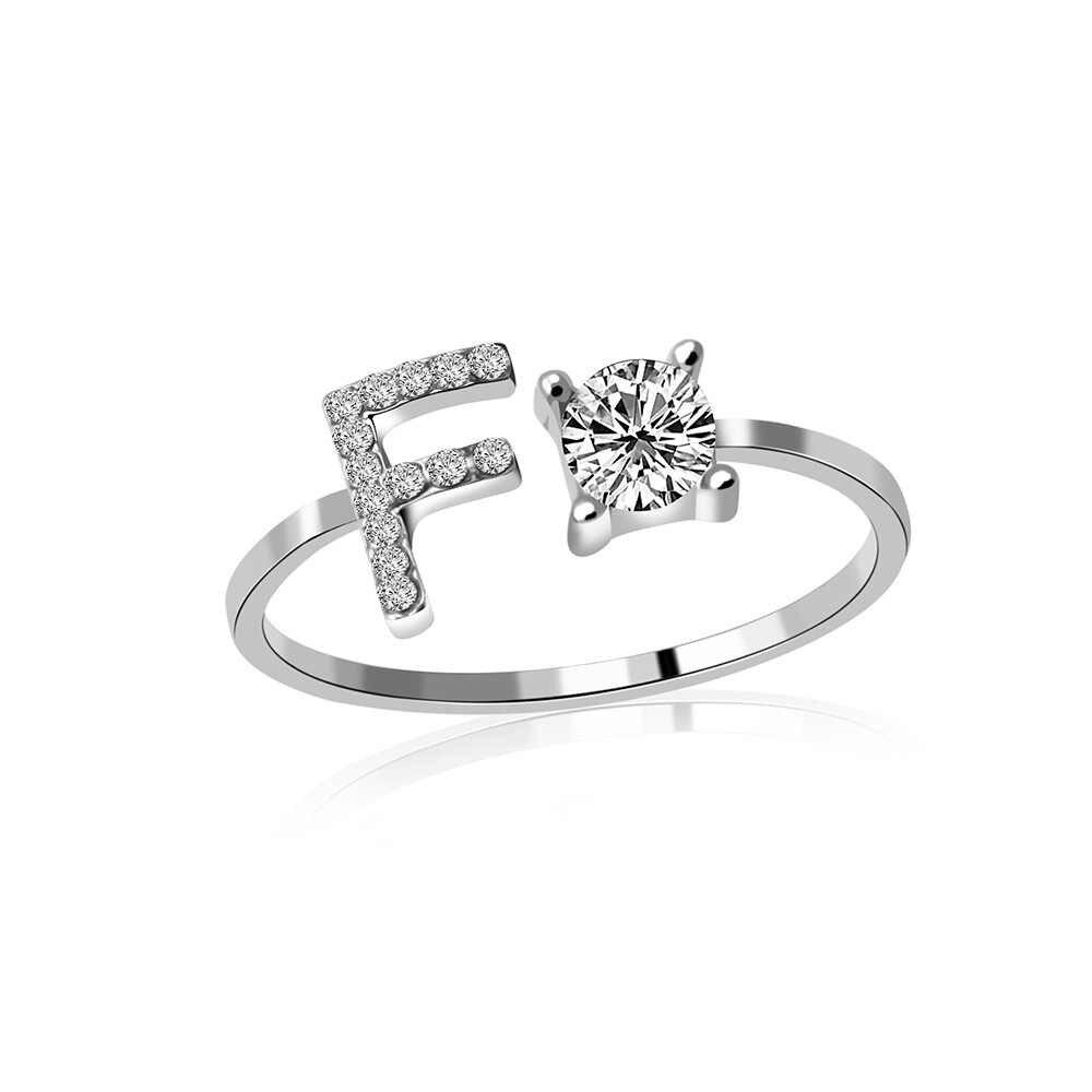 2020 anéis de ouro rosa abertura ajustável para as mulheres de cristal folha de flores anéis para moda feminina banhado a prata anéis para senhoras