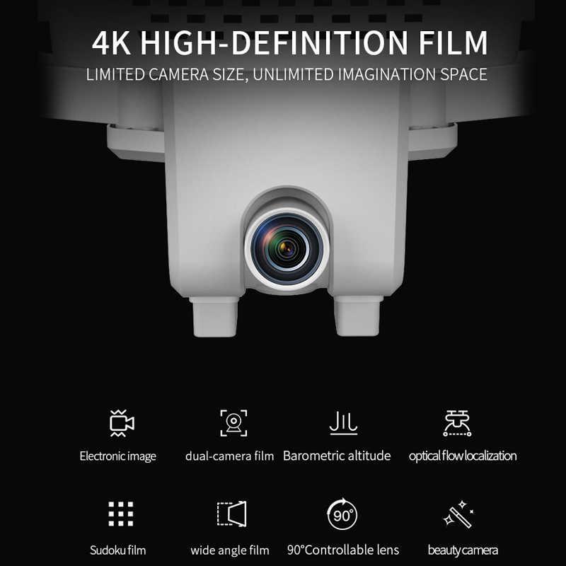 Visuo Xs818 禅ミニgpsドローンとwifi fpv 4 18k hdデュアルカメラオプティカルフローセンサrc quadcopterフォローミーミニdron vs E520S SG907